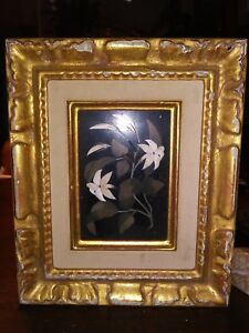 Beautiful Antique Grand Tour Floral Pietra Dura Plaque In Frame 1 Of 2
