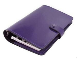 Filofax Personal 2018 Original Organizer Planner Diary Purple Leather C022433