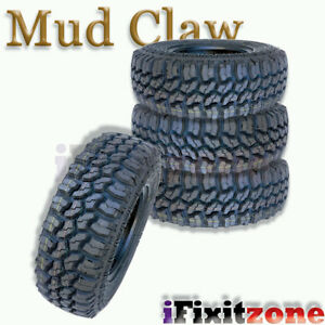 4 Mud Claw Extreme Mt 33x12 50r15lt 108q C All Terrain Performance Mud Tires