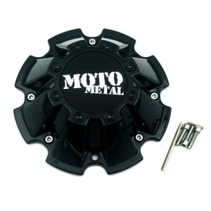 Moto Metal Gloss Black 8 Lug Center Cap Fits Mo962 Mo200 M793bk01 Cap M 793