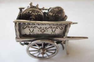 Medusa Oro 925 Sterling Silver Working Cart Figurine Miniature
