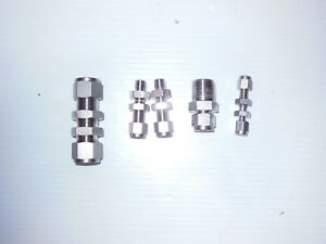 Mixed Lot Of 5 Swagelok Bulkhead Fittings And Tube Fitting 316 Stainless Steel