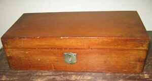 Antique 1800s Dovetailed Mahogany Box With Lock 10 X 4 3 4 Nice Condition