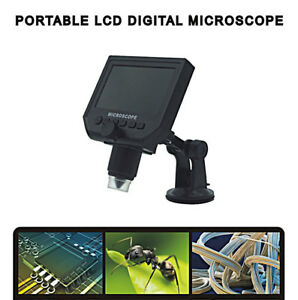Digital Microscope 4 3 Hd Led 3 6mp 1 600x Magnifier G600 Portable Lcd 1080p
