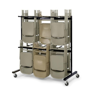 Safco Products Two tier Folding Chair Cart 4199 Commercial Grade Steel 84