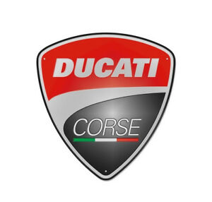 Ducati Corse Publicit Plaque M tallique Plaque Metal Sign Neuf