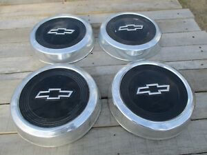 1967 1972 Chevy Hubcaps Set Of 4 Dog Dish Style 10 75 In
