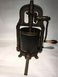 National Specialty Mfg 4qt Fruit Cider Wine Press Sausage Stuffer Lard 1897