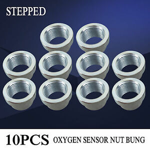 10pcs Weld O2 M18 X 1 5 Thread Oxygen Sensor Stepped Nut Bung For Sales