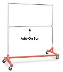 Only Hangers Commercial Grade Double Bar Rolling Z Rack Clothes Heavy Duty Metal