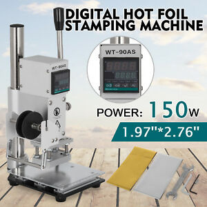 5 7cm Digital Hot Foil Stamping Machine 110v Leather Press Marking With Holder