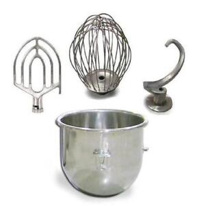 20 Qt Attachment Package Bowl Whip Flat Beater Hook Fits Hobart A200 Mixer