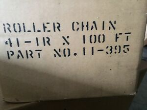 41 Roller Chain 100 Ft Roll