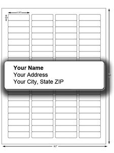 80 4000 Custom Personalized Return Mailing Address Labels Stickers 1 2 X 1 3 4
