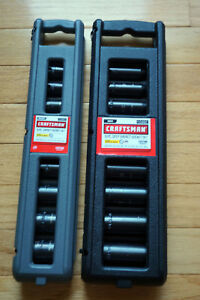 Craftsman Laser 6pt 9 Pc Impact Socket Sets 915881 Metric 915882 Inch New