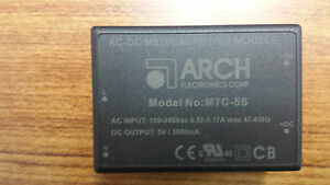 Arch Ac dc Medical Power Module Mtc 5s Ac In 100 240vac Dc Out 5v