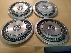 Vw Rabbit Wheel Covers Restoration Parts Vintage Classic Auto Car Antique Tire
