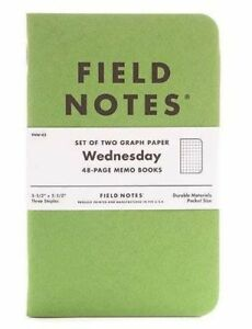 Field Notes Fnw 03 Green Wednesday Set Of 2 Graph Paper Note Memo Books
