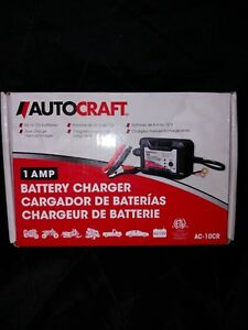 Autocraft Ac 10cr 1 Amp 6 12 Volt Battery Charger Fast Free Shipping