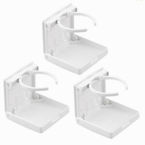 3x White Adjustable Folding Cup Drink Holder Mount For Car Truck Suv Boat Rv Usa
