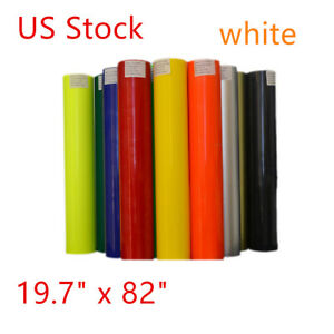 19 7 x82 Roll Pu Non sticky Digital Cutting Heat Transfer Vinyl White Us Stock