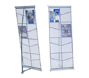 8 Pocket Mesh Double Literature Display Stand Catalog Brochure Rack Stand