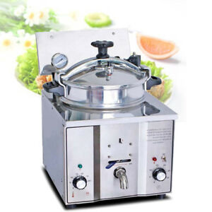 Commercial Electric Countertop Pressure Fryer 16l Stainless Chicken Fish Hotel
