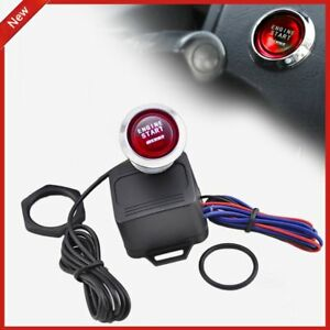 12v Car Engine Start Push Button Switch Ignition Starter Kit Red Led Xc