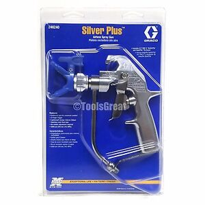 New Graco 246240 Silver Plus Gun With Ltx517 Tip 246215 Rac X Tip Guard