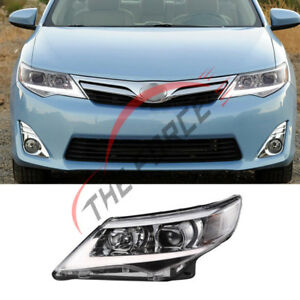 12 14 Truck Parts Replacement White Lamp For Toyota Camry Pair Rear Headlights