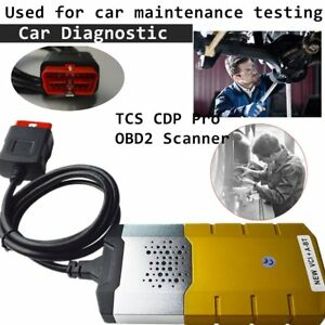 Tcs Cdp Pro Obd2 Scanner Double Green Boards Diagnostic Tool With Cable Lx
