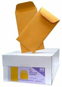 Box Of 500 7 Coin Brown Kraft Envelopes For Small Parts Cash Etc New