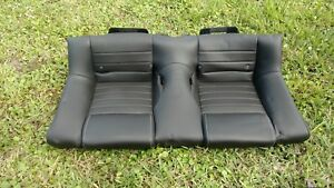 Oem Ford Mustang Gt Convertible Leather Rear Seat Black 2005 2014 roush 2013