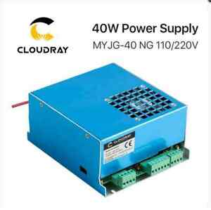 Cloudray 40w Co2 Laser Power Supply Myjg 40wt 110v 220v For Laser Tube Model A