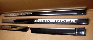 2006 2010 Jeep Commander Chrome Door Trim Molding Driver Passenger Side Set Oem
