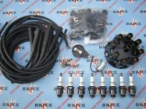 1953 1954 1955 1956 Buick V 8 Ignition Tune Up Kit W Wires Delco Spark Plugs