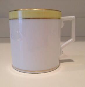 Hochst Hand Painted Porcelain Yellow Cup Made In Germany New