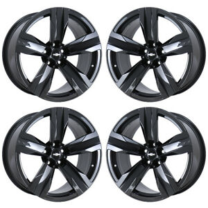 20 Chevrolet Camaro Zl1 Black Chrome Wheels Rims Factory Oem 5532 5533 Exchange