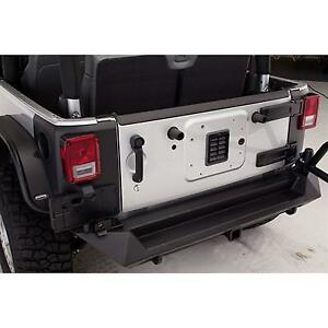 Fab Fours Rear Base Bumper With D Ring And Cb Antenna Mount In Black Powder Coat