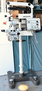 Leica Wild M691 Mel48 Surgical Microscope With Dual Binoculars 200mm Objective