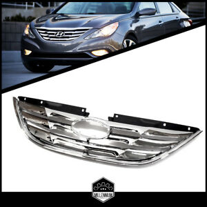 Front Center Upper Grill Grille Chrome For Hyundai Sonata Years 2011 2012 2013