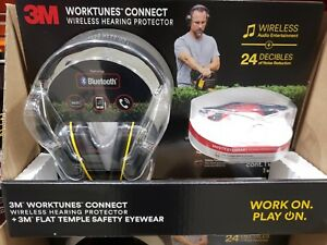 3m Worktunes Connect Wireless Hearing Protector Bluetooth With 3m Safetyeyewear