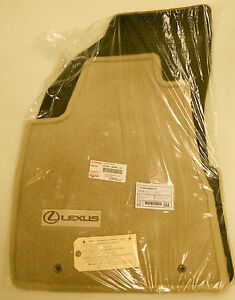 2004 To 2009 Lexus Rx330 Rx350 Carpeted Floor Mats Factory Oem Ivory Beige