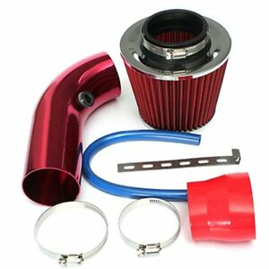 Universal Red Car Air Intake Filter Induction Mesh Cone High Power Set 76mm Vx