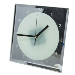 Us Stock 7 8 X 7 8 Sublimation Blank Glass Photo Frame With Clock