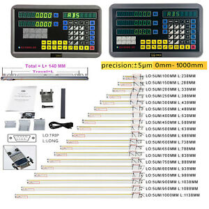 Us 2 3axis Digital Readout Dro Display Linear Scale Encoder For Bridgeport Mill