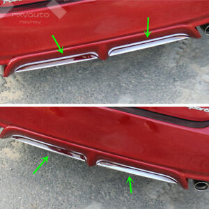 2x S Steel Chrome Rear Bumper Lower Lip Trim For Toyota Camry Se Xse 2018 2019