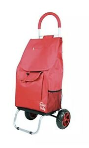Dbest Folding Trolley Dolly Shopping Cart Grocery Laundry Utility Cart Red