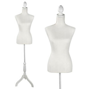 Female Dress Form Pinnable Mannequin Body Torso With Iron Tripod Base Stand