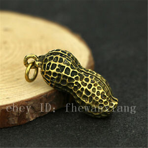 China Antique Brass Collection Peanut Pendant Accessories